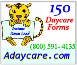 150 Daycare Forms Instant Down Load